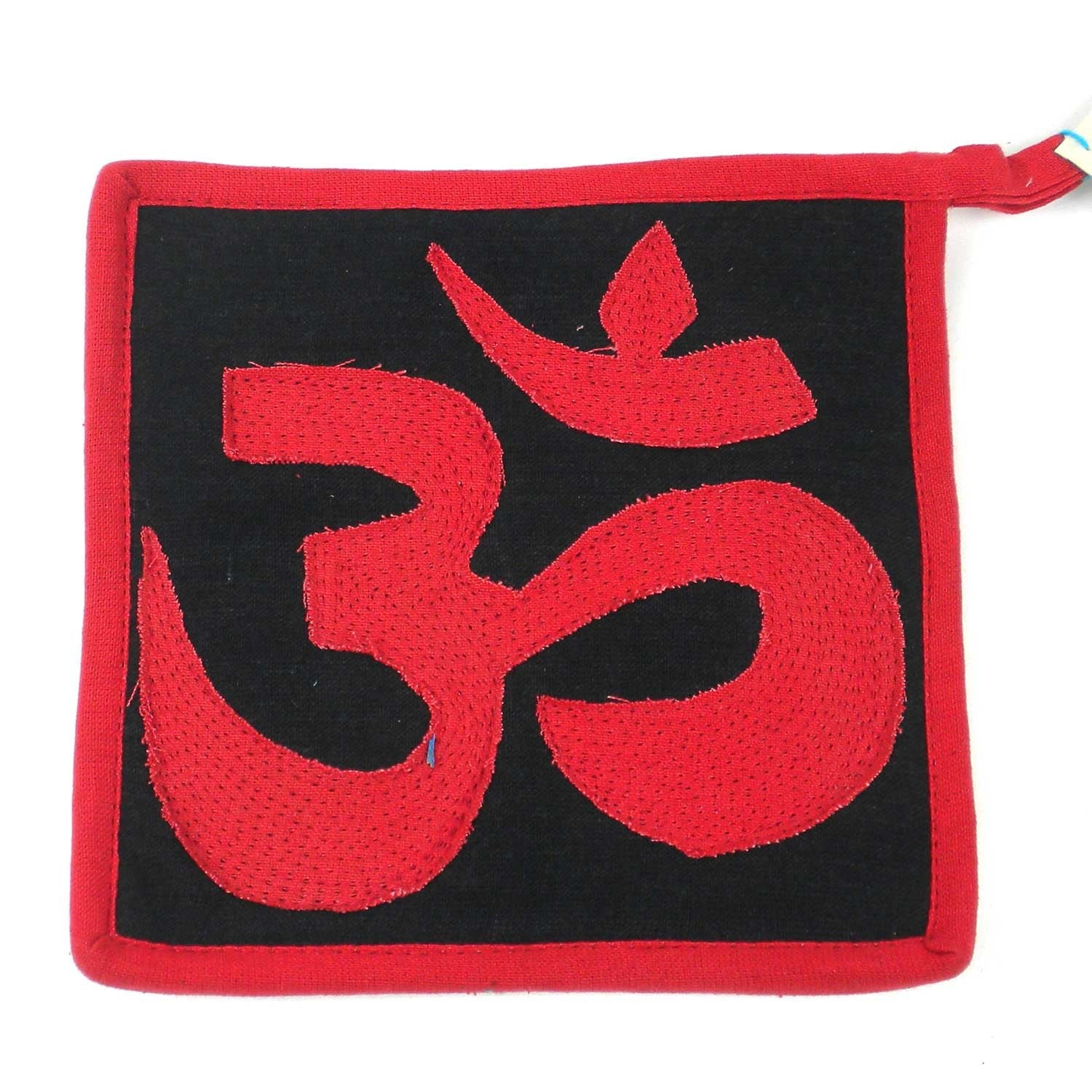 Om Hot Pad Black and Red