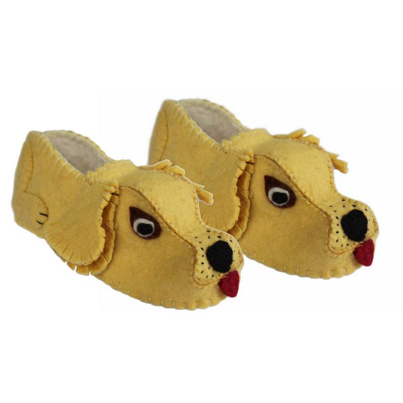 Golden Retriever Slippers Adult Medium