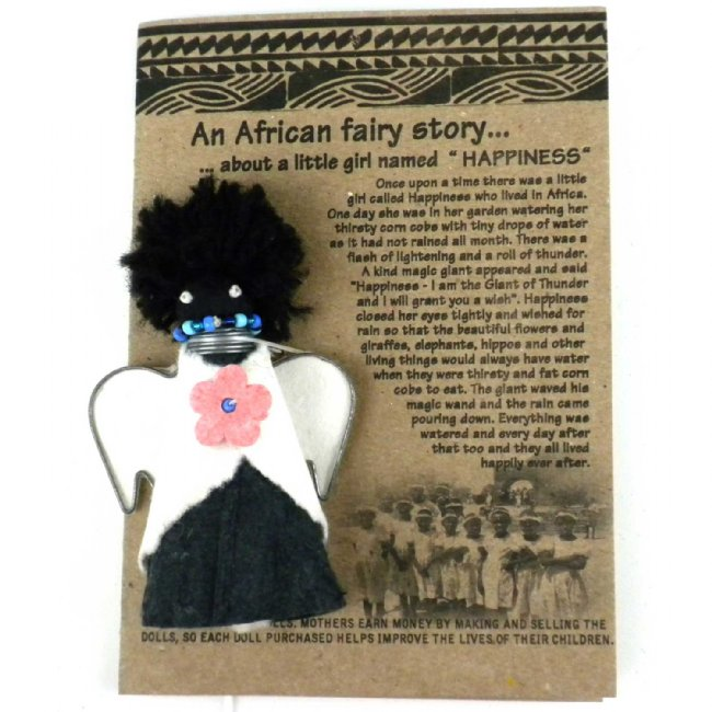 African Paper Happiness Doll Fridge Magnet