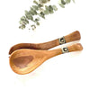 Olive Wood Serving Set, Small with Batik Inlay