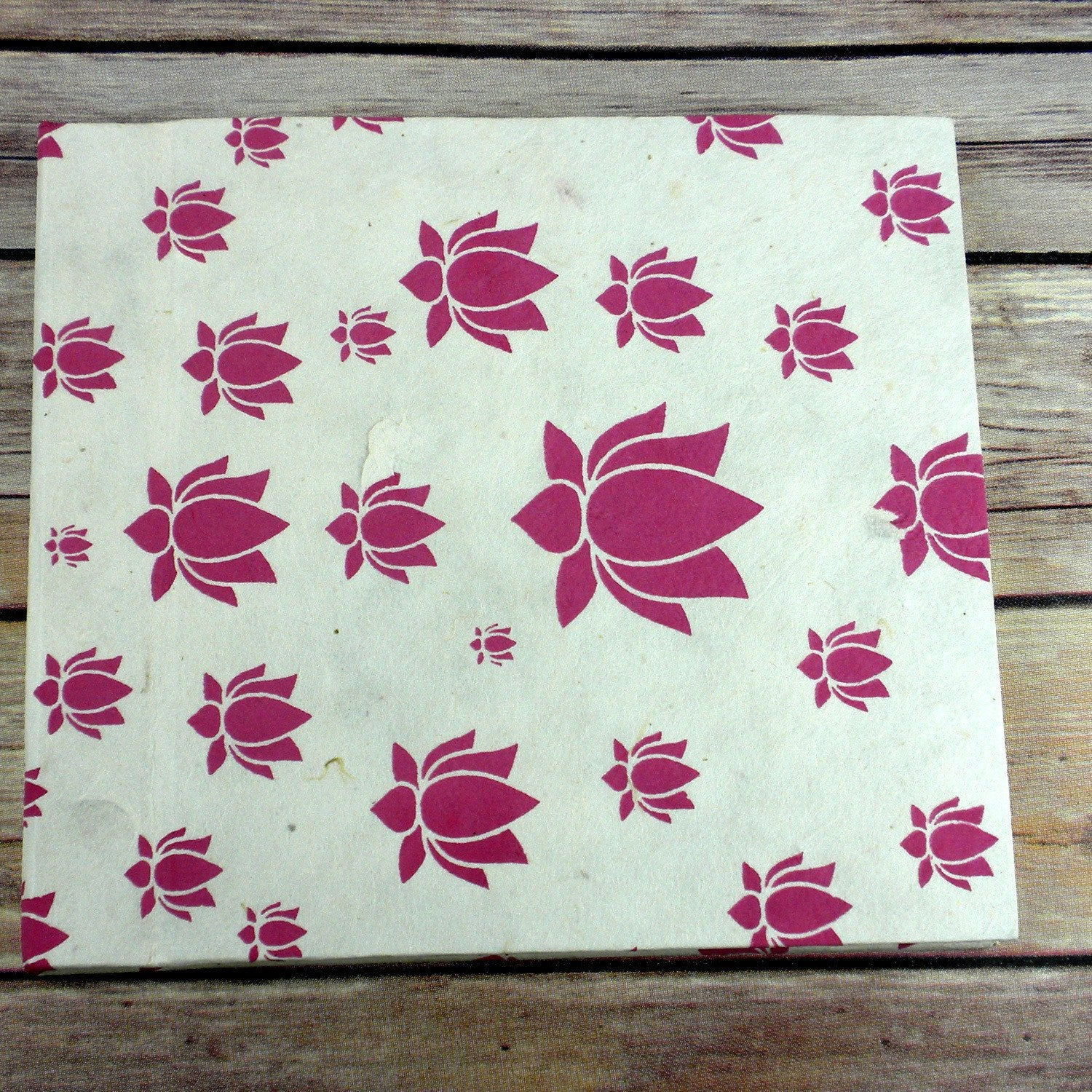 Eco-Friendly Journal with Lotus Design Large, Pink