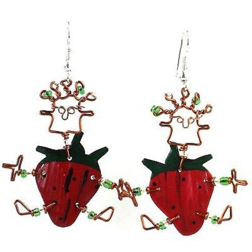 Dancing Girl Strawberry Earrings