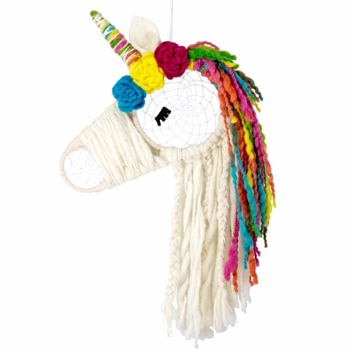 Macrame Dreamcatcher - Unicorn