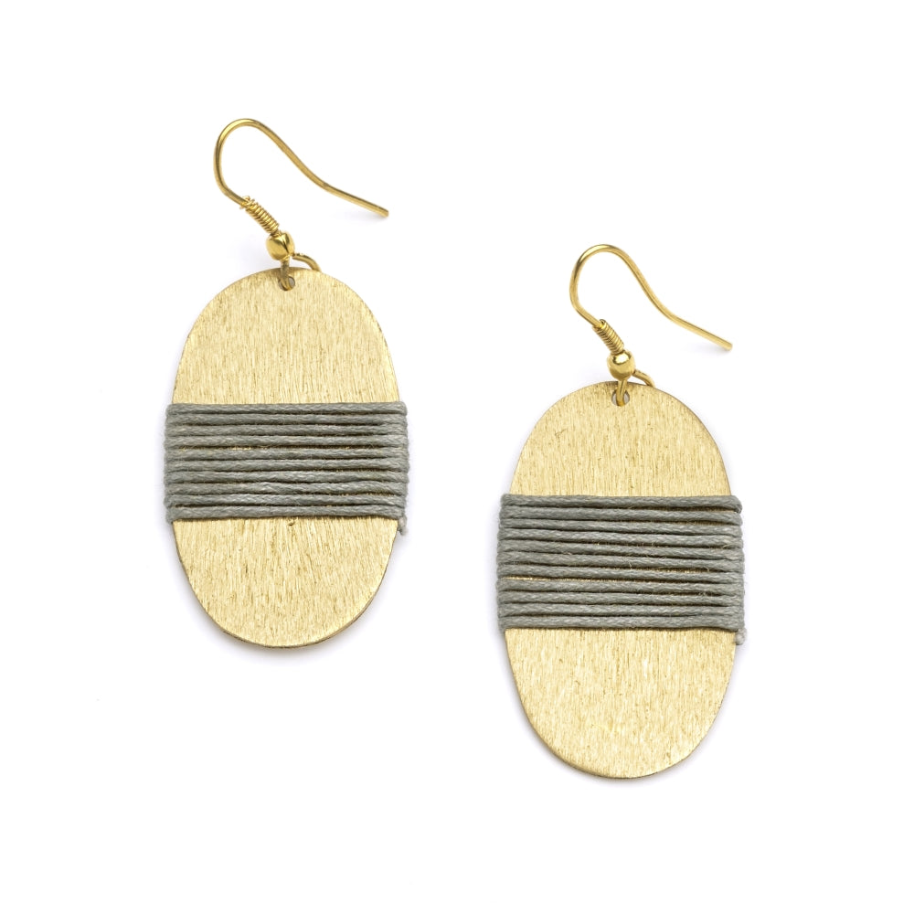 Kaia Earrings - Gray Medallion