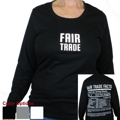 Black Tee Shirt Long Sleeve Small FT Front - FT Facts on Back - Large