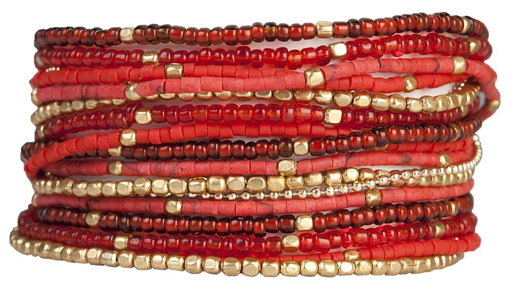 Wrap Bracelet: Lauren Cherry