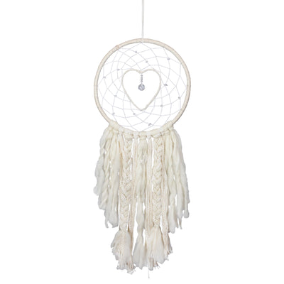 Macrame Dreamcatcher - Crystal Heart