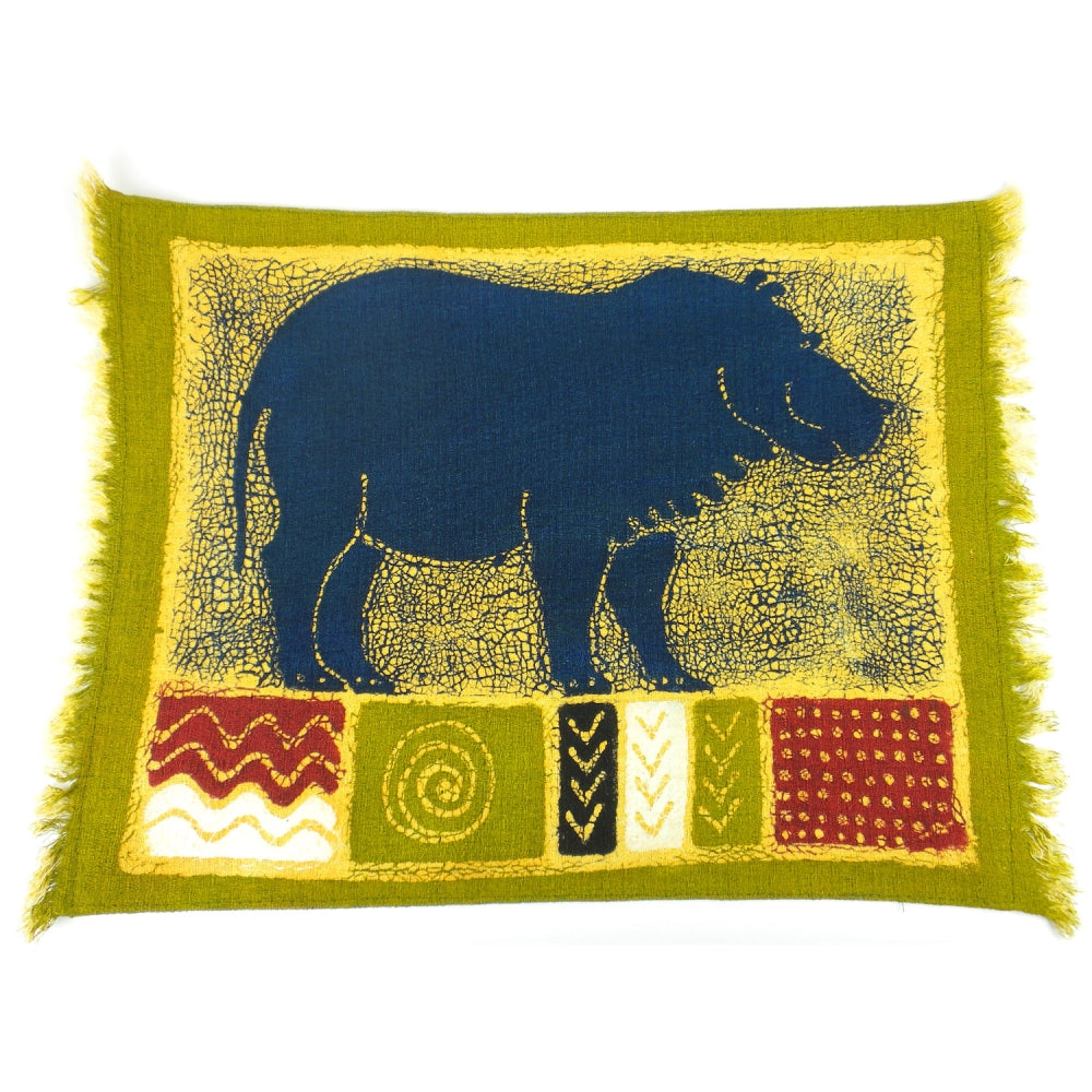 Green Hippo Placemat