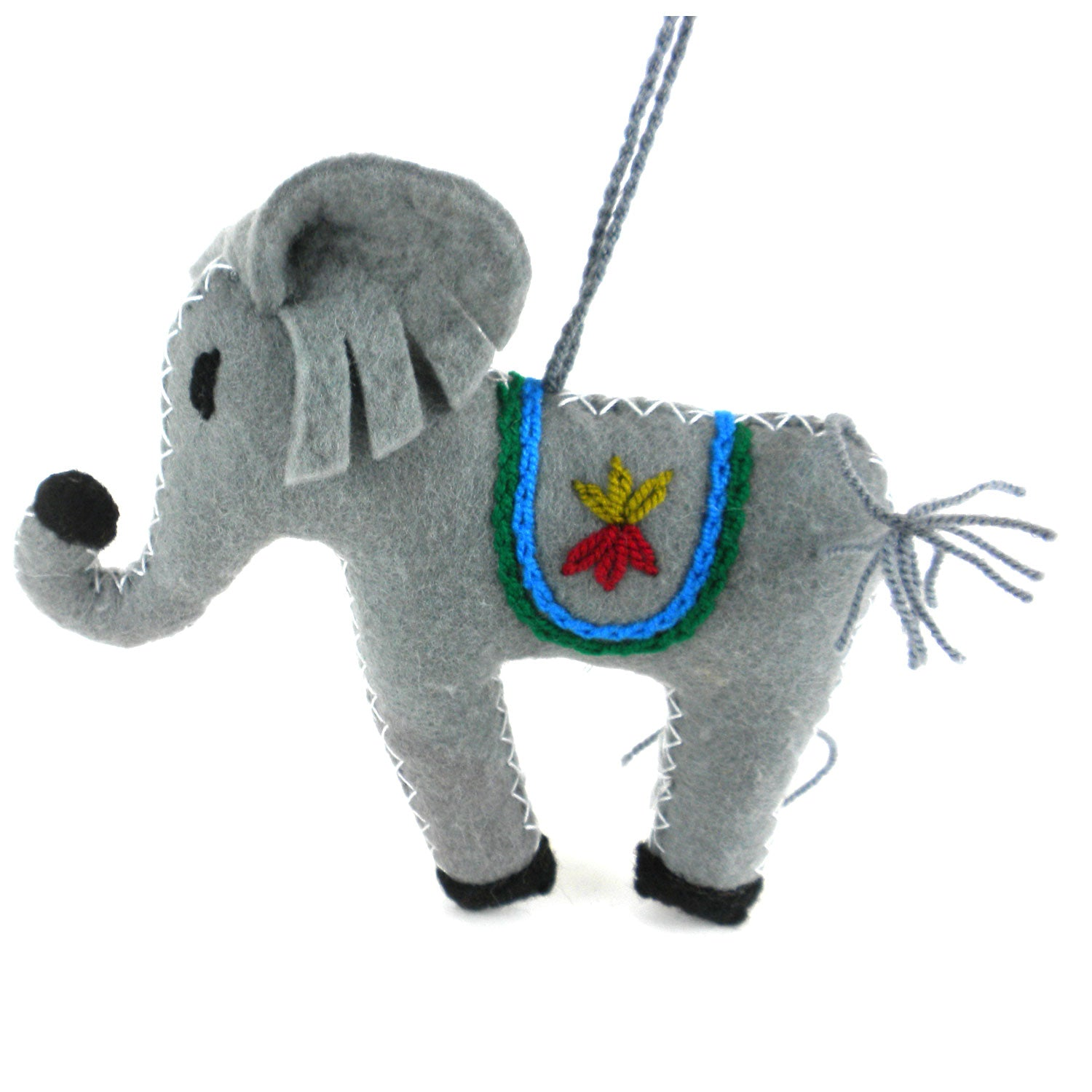 Elephant Felt Holiday Ornament