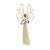 9 Inch Sisal Angel Ornament, Star