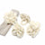 Cream Zinnias Felt Napkin Rings, Set of 4
