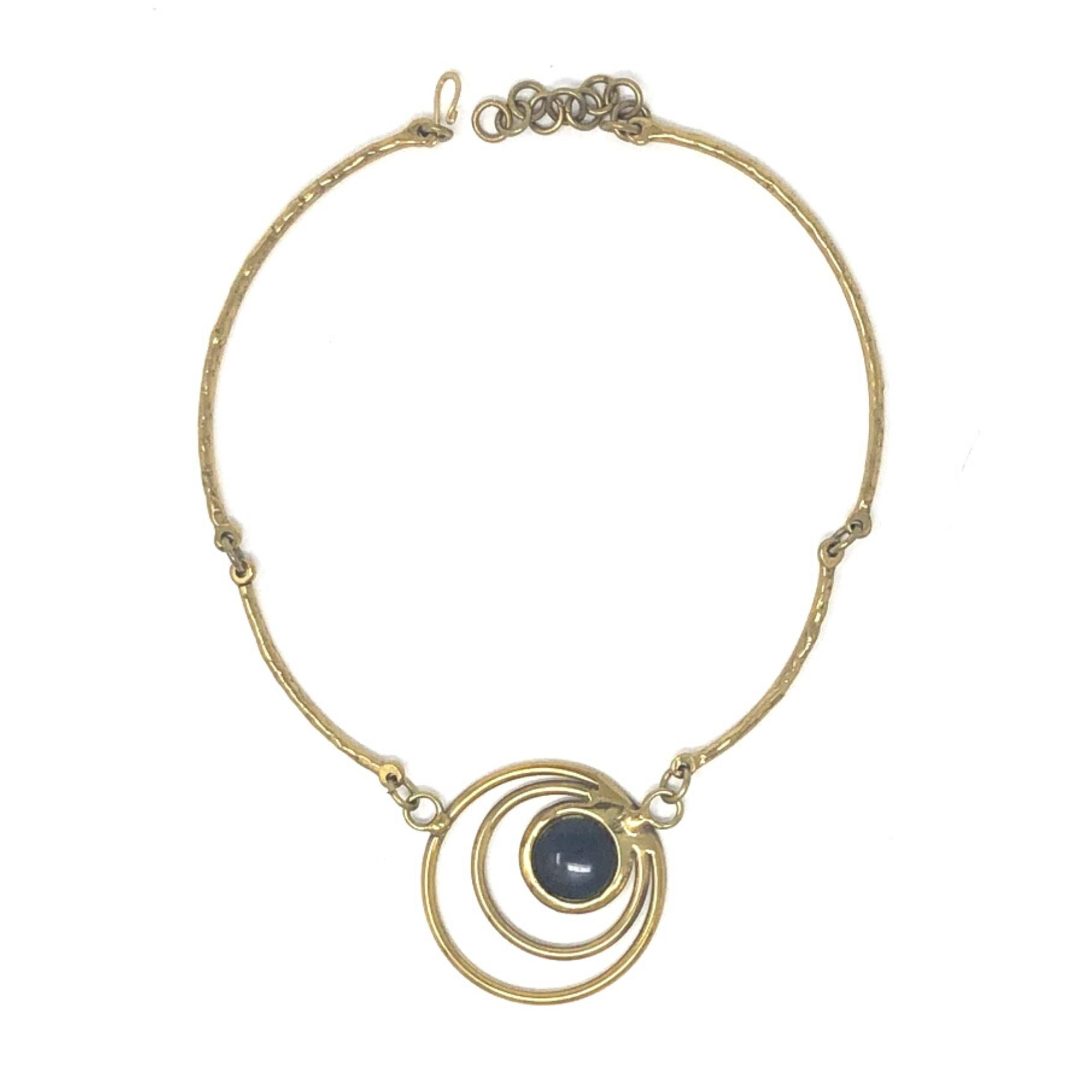Blue Concentric Necklace