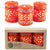 Hand-Painted Orange Votive Candles, Boxed Set of 3 (Masika Design)
