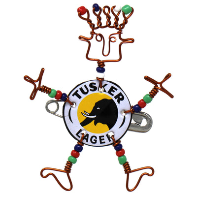 Tusker Dancing Girl Pin with Beads