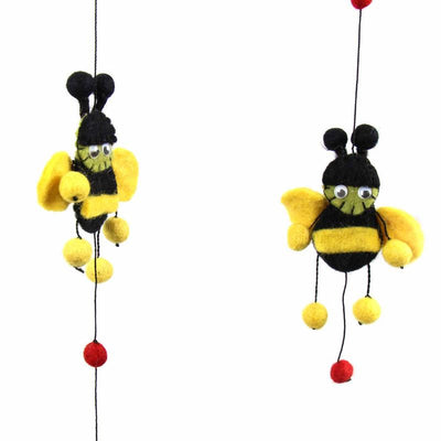 Red Bumble Bee Felt Nursery Mobile