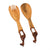 Wood Serving Set, Giraffe Design