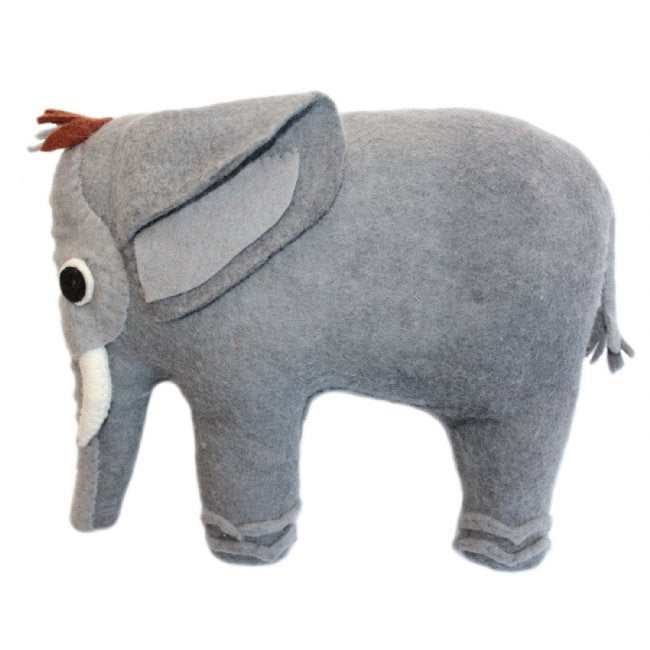 Elephant Shaped Throw Pillow