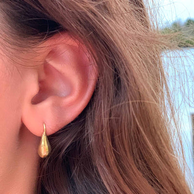 Brass Drop Earrings