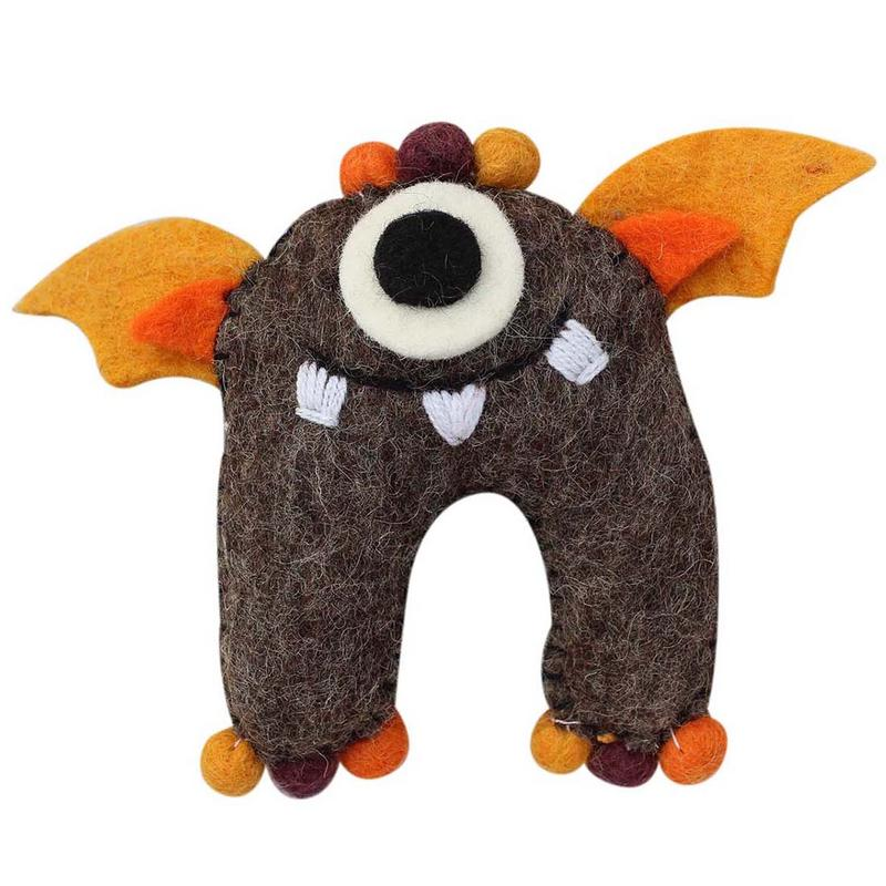 Brown Monster Felt Tooth Fairy Pillow