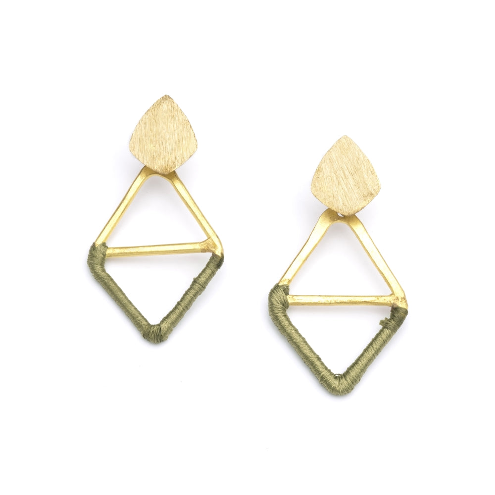 Kaia Earrings - Olive Diamond