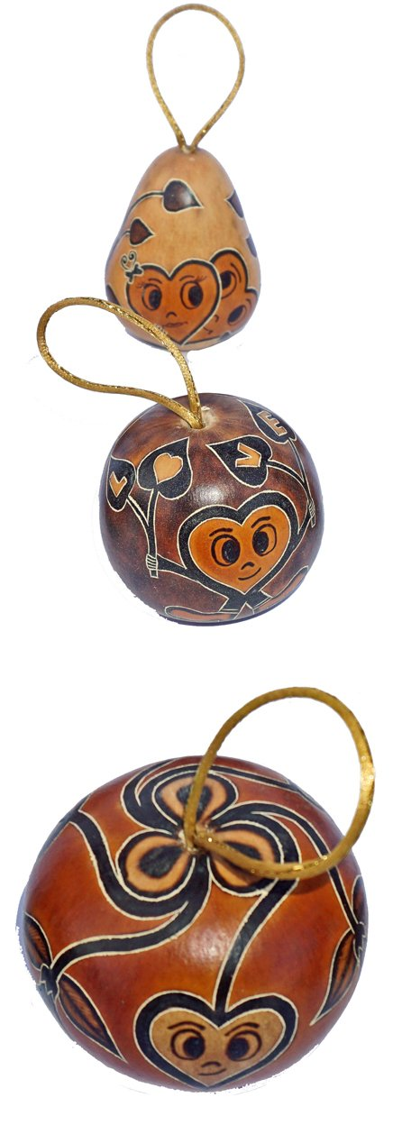 Love Gourd Ornaments