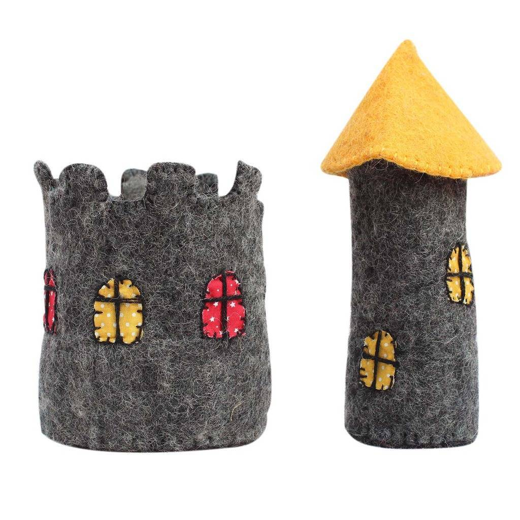 Handcrafted Felt Castle, 7.5""