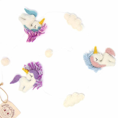 Unicorn Felt Garland Kids' Room Décor