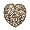 Antique Finish Wood Pivot Box - Heart