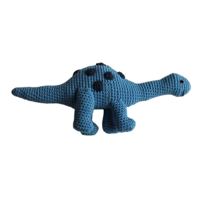 Knit Brontosaurs Rattle