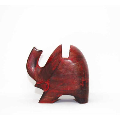 Elephant Eyeglass Stand in Red Wash - Pack of 3