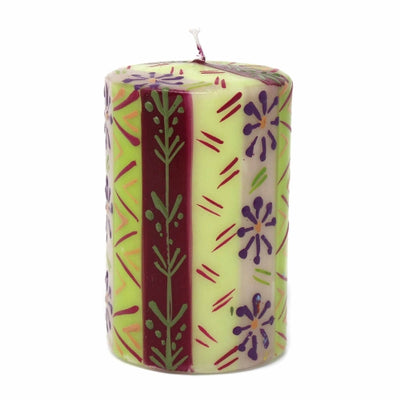 Hand-Painted Pillar Candle in Gift Box, 4-inch (Kileo Design)