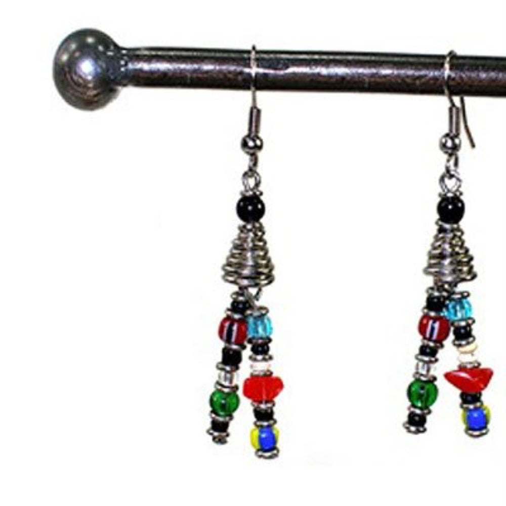 Two Strand Bead Earrings