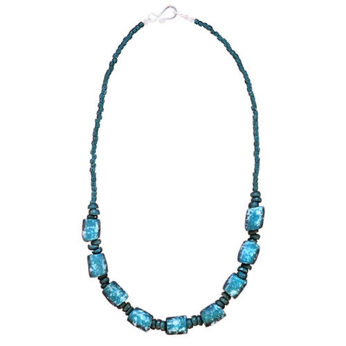 Marble Necklace Teal