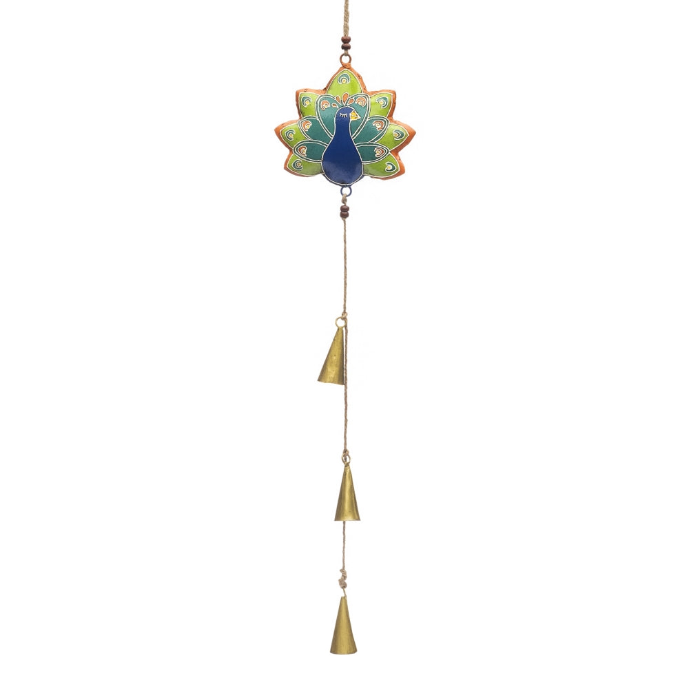 Henna Treasure Bell Chime - Peacock