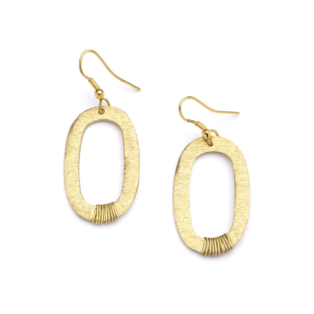 Kaia Earrings - Gold Oval Links