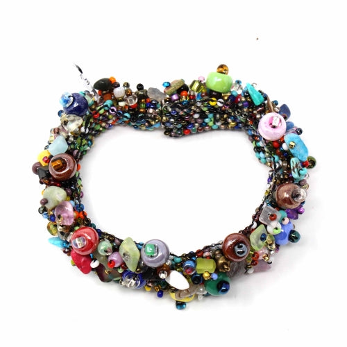 Magnetic Beachball Caterpillar Bracelet Multi