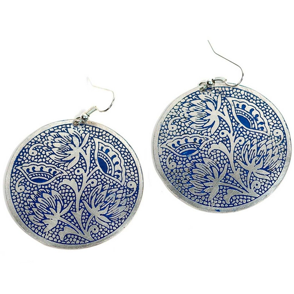 Padma Earrings - Blue