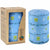 Hand-Painted Blue Pillar Candle in Gift Box, 4-inch (Masika Design)