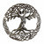 Celtic Tree of Life Haitian Metal Drum Wall Art, 24""