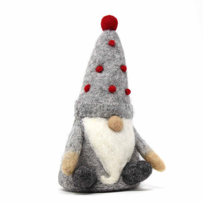 Handcrafted Felt Winkle Gnome Décor
