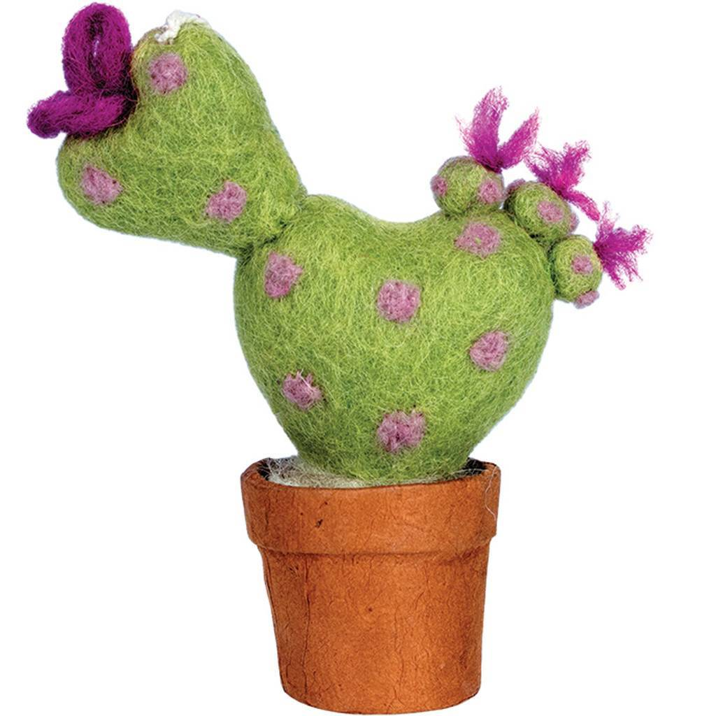 Felt Love Cactus Ornament