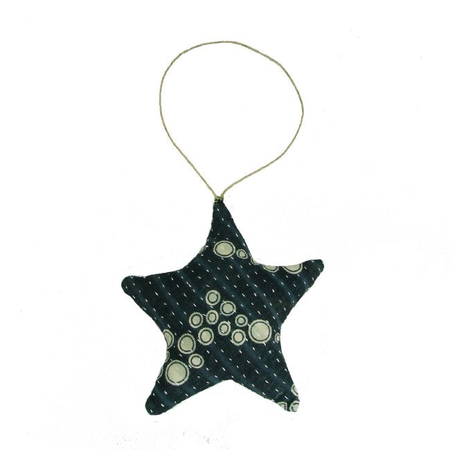 Kantha Star Holiday Ornament