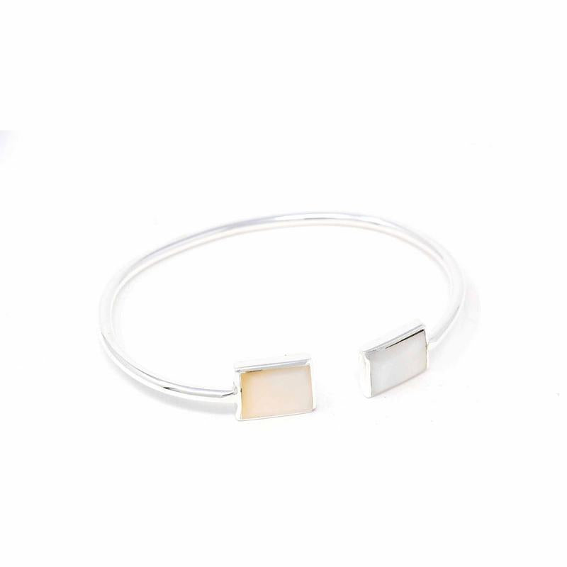 Mother-of-Pearl Squares Cuff Bracelet