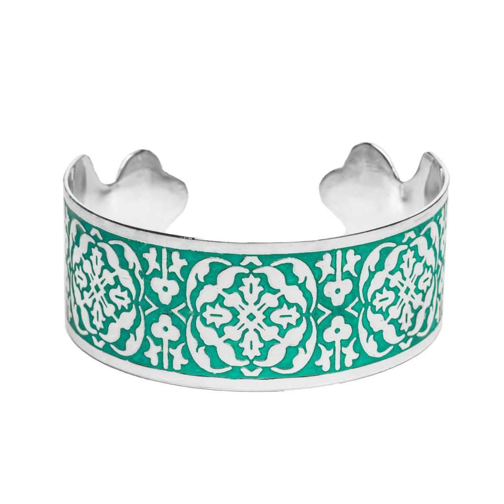 Arabesque Cuff - Teal