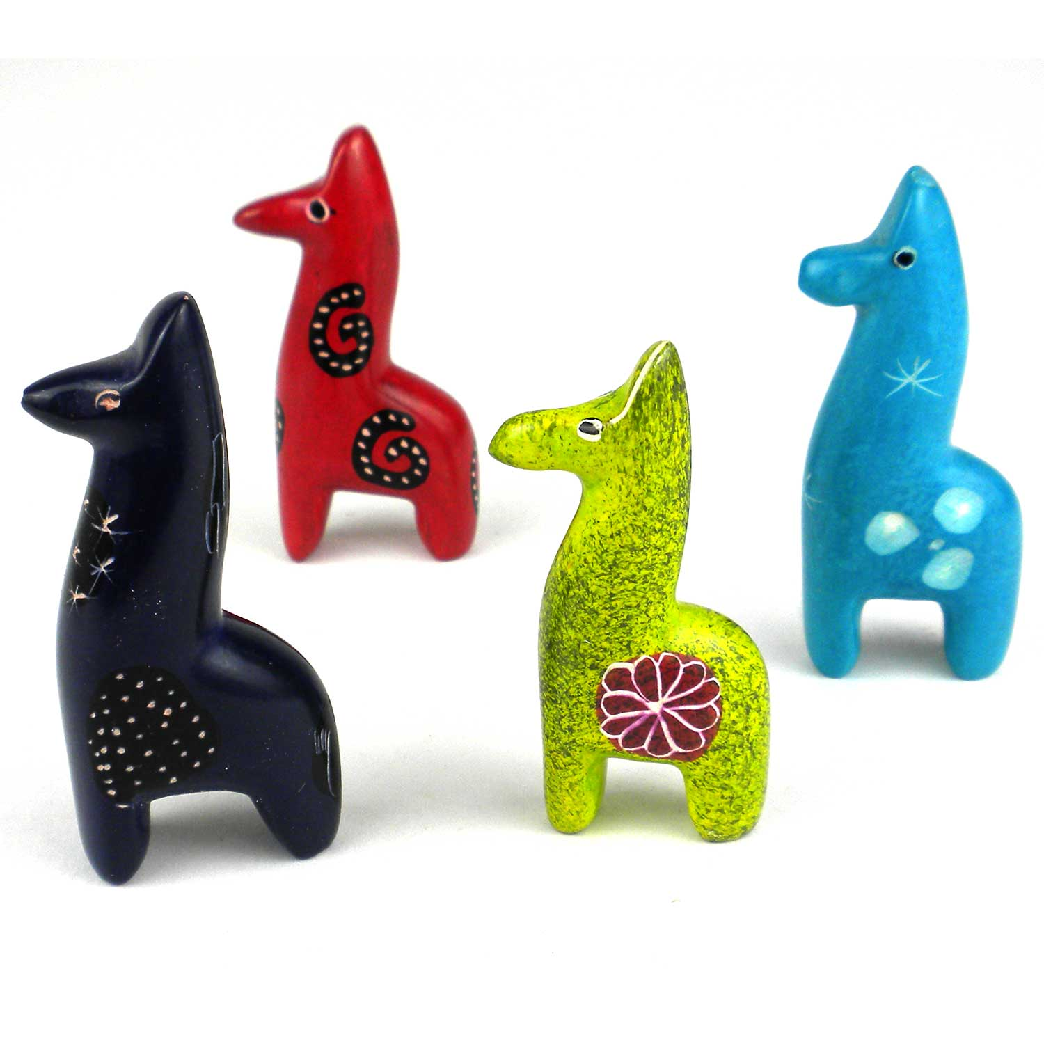 Soapstone Giraffes, Set of 5 - Tiny 1 -2 inches