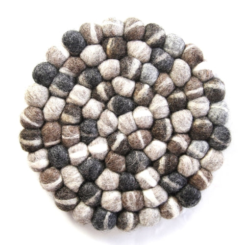 Tie-Dye Grey Felt Ball Trivet