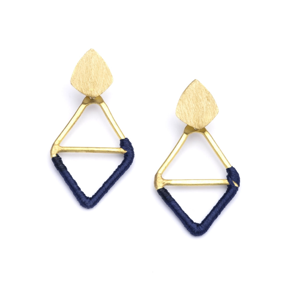 Kaia Earrings - Navy Diamond