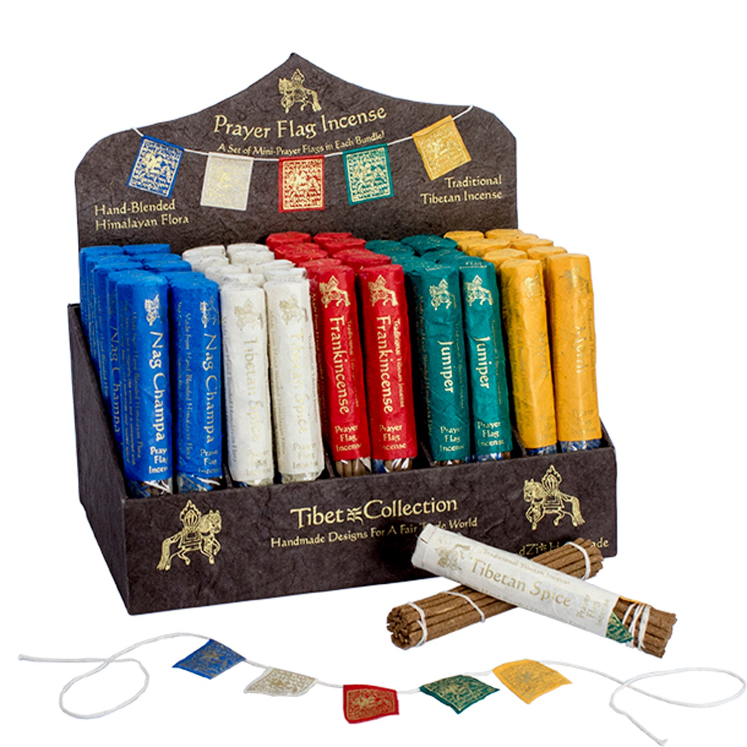 Prayer Flag and Incense Display Kit