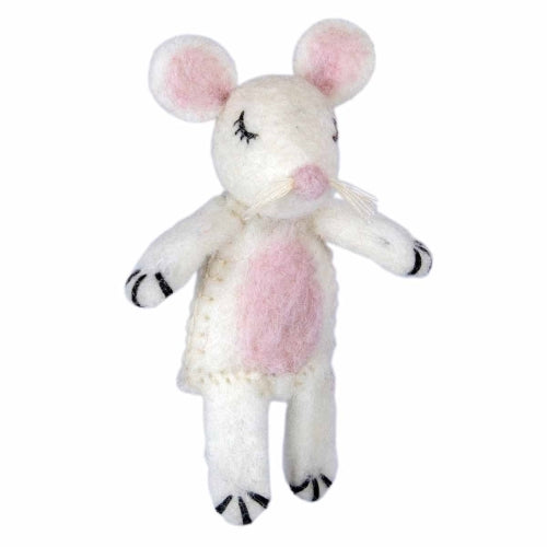 Woolie Finger Puppet - Molly Mouse