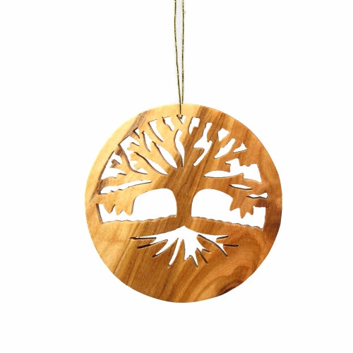 Olive Wood Ornament - Tree of Life